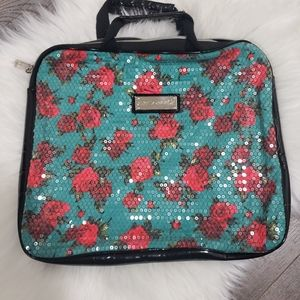 EUC Betsey Johnson sequined Laptop/tablet case